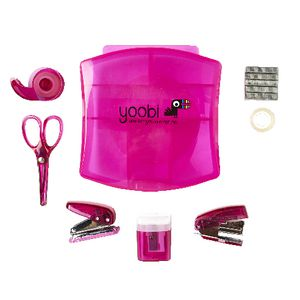 Yoobi Mini Stationery Set Pink