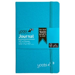 Yoobi Medium PU Hard Cover Journal Aqua 80 Page