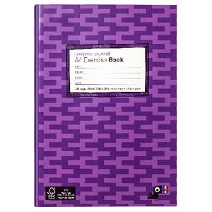 Yoobi A4 Exercise Book Zig Zag Purple 128 Page