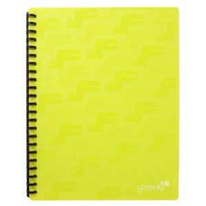Yoobi A4 20 Pocket Display Book Green