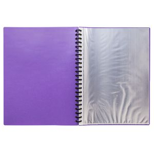 Yoobi A4 20 Pocket Display Book Purple