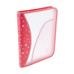 Zipper Binder A4 2 O-Ring 25mm Pink Dots