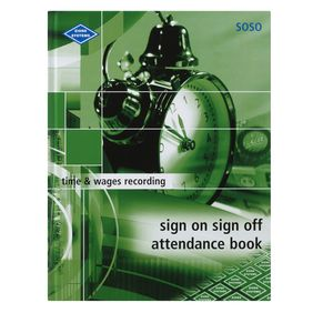 Zions Sign On Sign Off Attendance Book