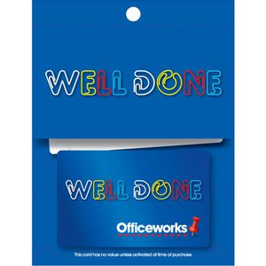 Officeworks Gift Card Well Done $50