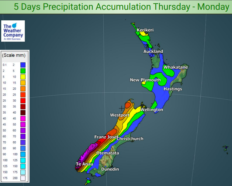 New Zealand's 5 day Rain and Snow outlook (+2 Maps) | WeatherWatch - New Zealand's Weather News ...