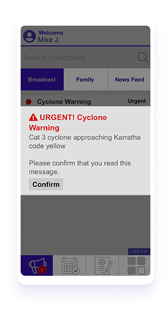 Broadcast Messaging - Cyclone