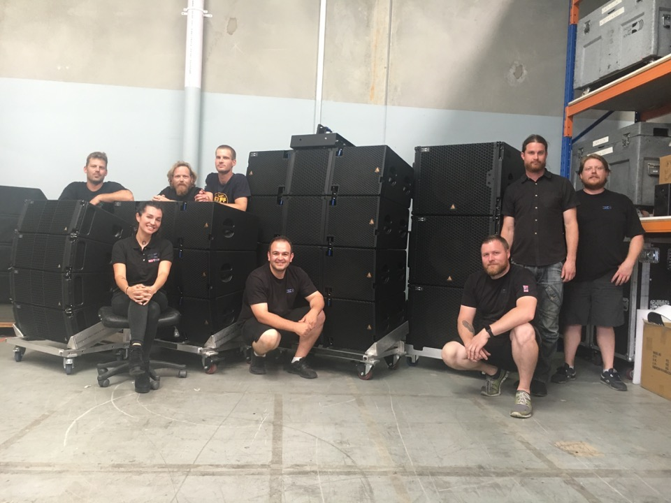 The Eighth Day Sound Sydney team with their Adamson E-Series and S-Series products.
