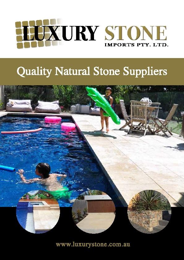 sandstone pavers brochure