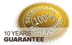 10 Year rainwater tank guarantee