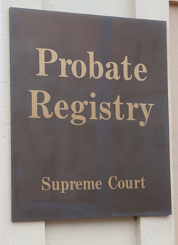 Probate office in NSW