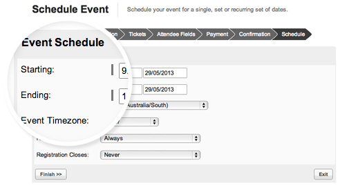 event scheduling