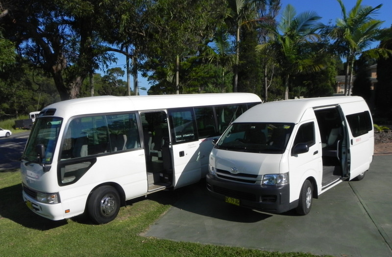 Two of our Mini bus hire in Newcastle