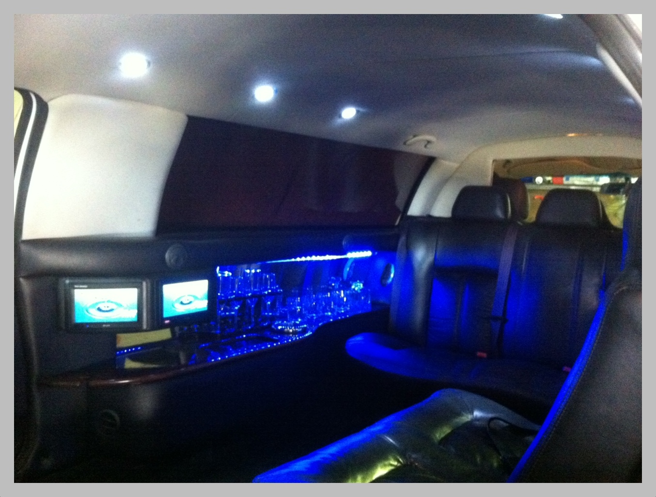 Interior of stretch limos in Newcastle