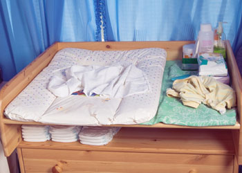 Baby Nursery Nappy Changing Station