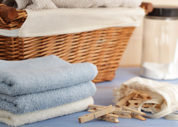 Laundry Basket and Pegs