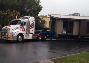 Transporting a Home By Truck