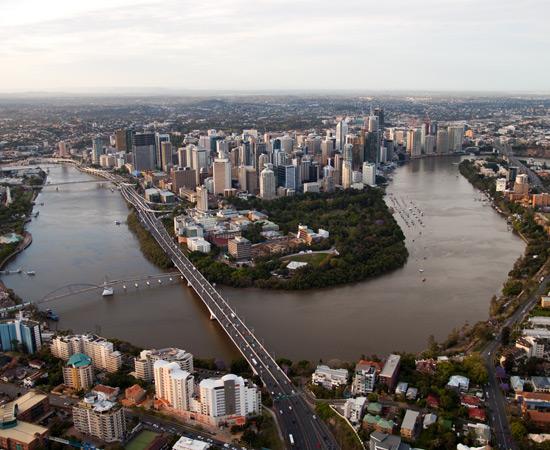 Brisbane City Aerial View