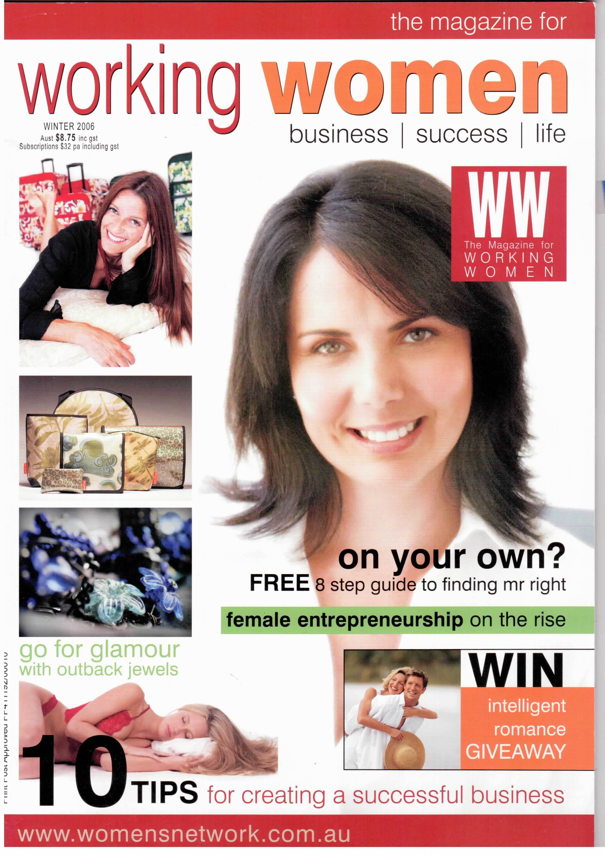 Working Women Magazine cover winter 2006