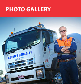 photo gallery, concrete truck and man
