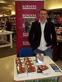Publicious Director and Author Andy McDermott book signing at the Borders book store