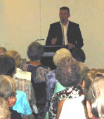 Publicious Director and Author Andy McDermott speaking at the Brisbane Library