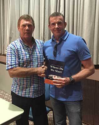 Author Ray Cross and Publicious CEO Andy McDermott