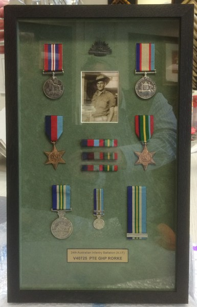 Object Framing - War Medals