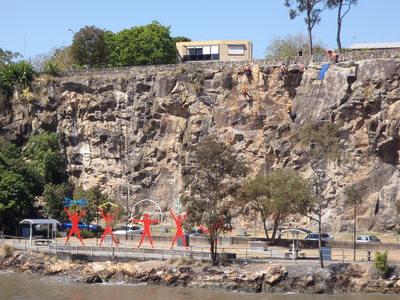 Kangaroo Point Cliffs, Brisbane River, Brisbane Cruises