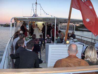 Lady Brisbane Wedding on Brisbane River