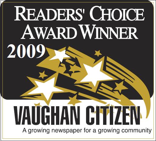 The Dance Zone readers choice award 2009 for best dance studio Vaughan.