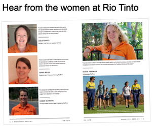 Women at Rio Tinto support each other
