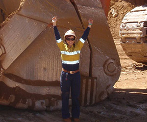 Jacinta Riedel carves out a career in mining