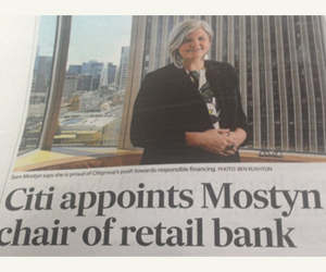 Sam Mostyn appointed chairman of Citis retail bank