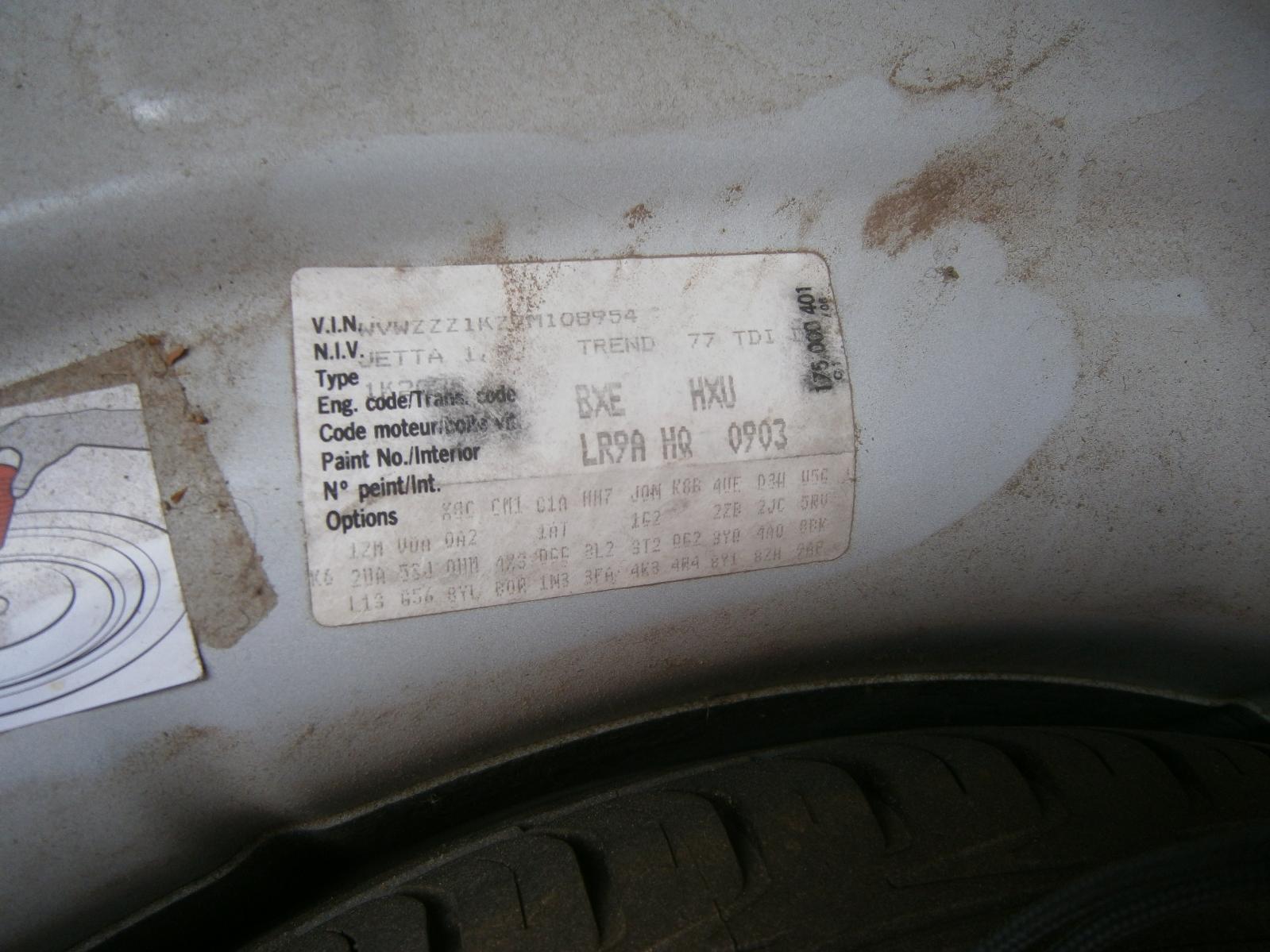 Steering Box/Rack Jetta Volkswagen 2007