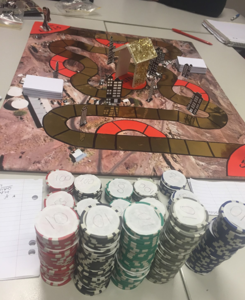 The game played by students in the unit