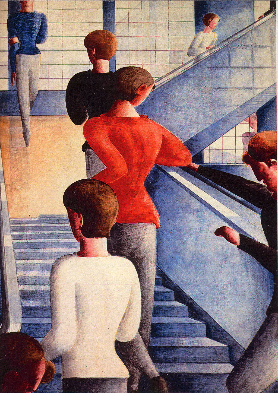 Bauhaustreppe, by Oskar Schlemmer