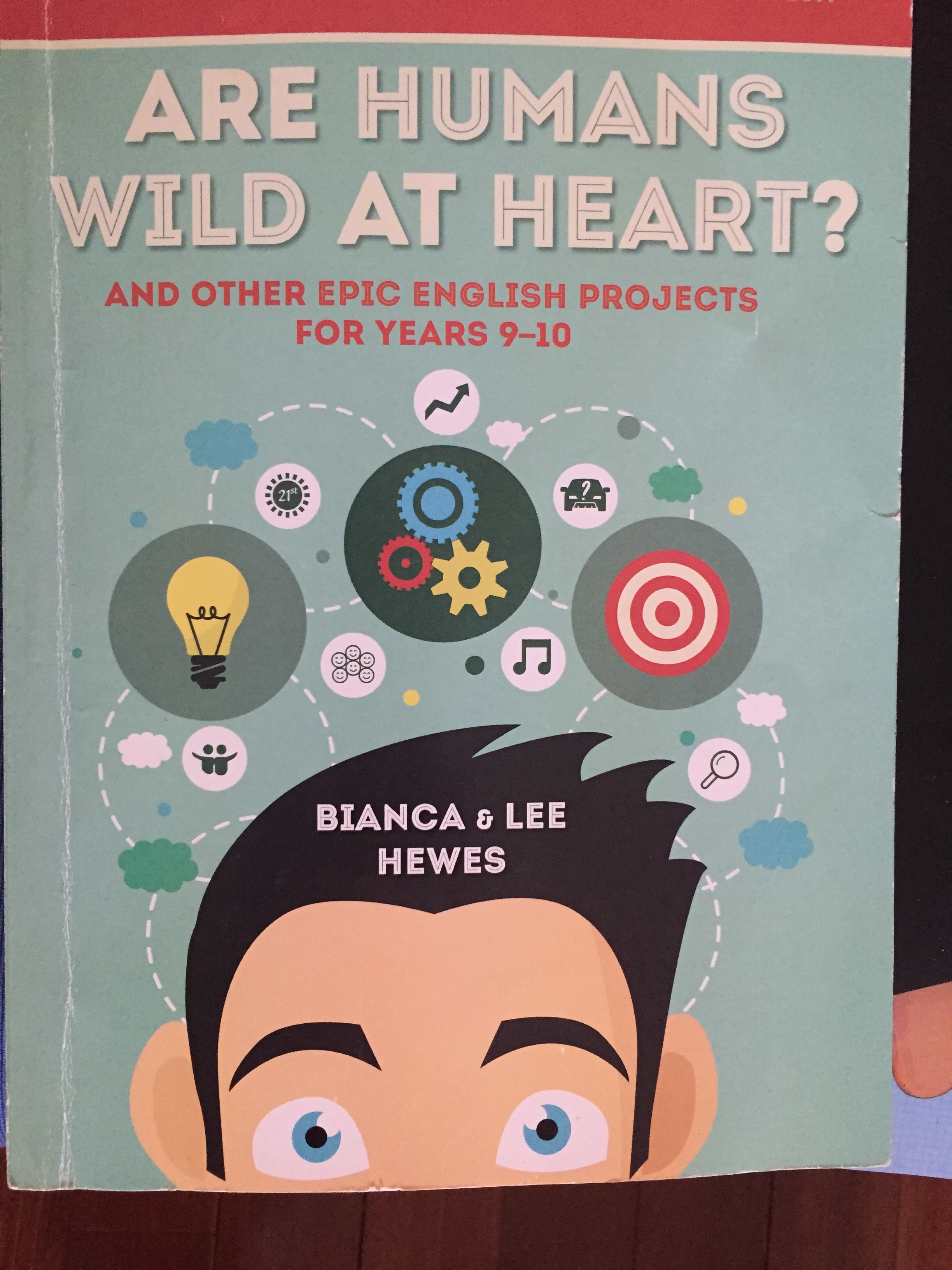 A photo of the front cover of Bianca and Lee Hewes' book, 'Are Humans Wild at Heart?'