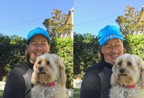 Jackie and her dog Maya.