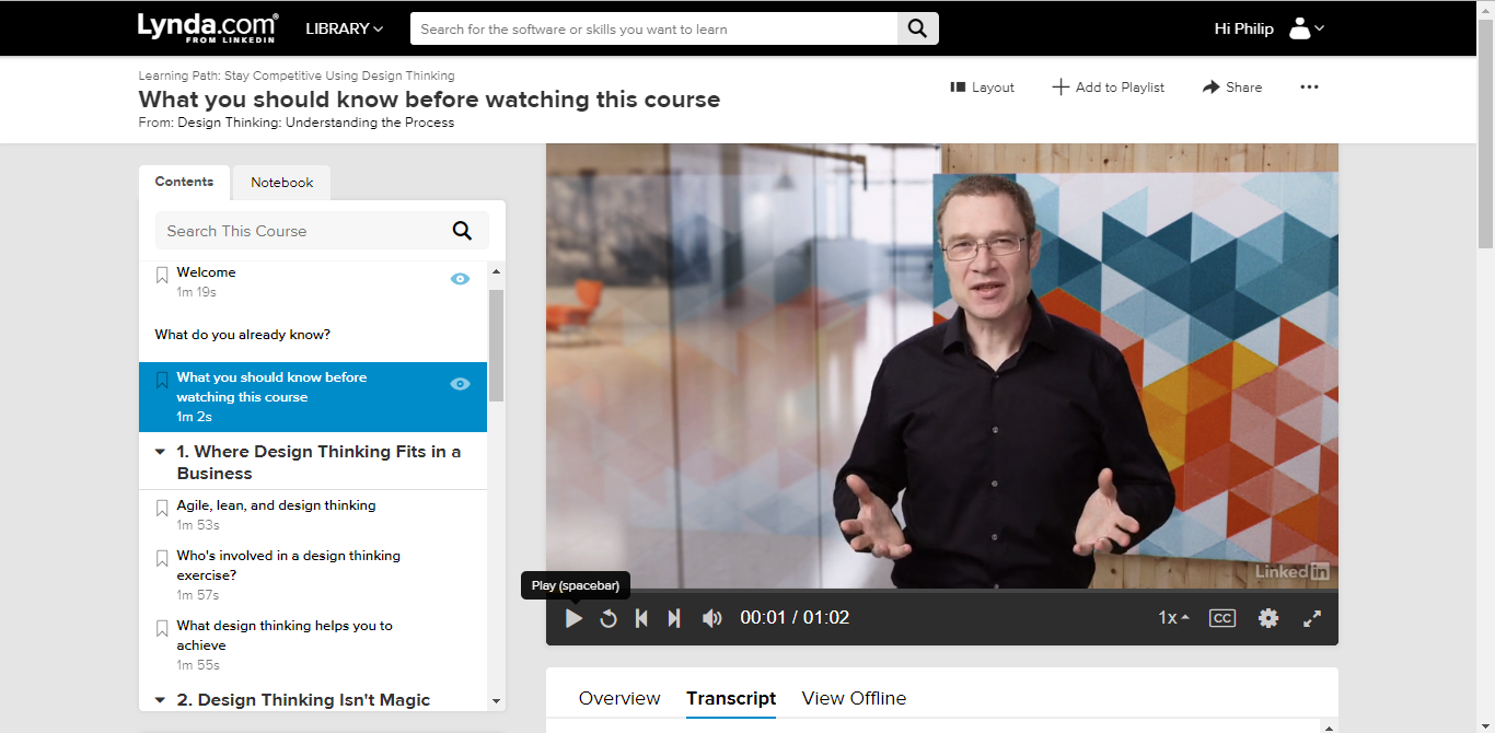 Design Thinking – Lynda.com Live with the LX.Lab