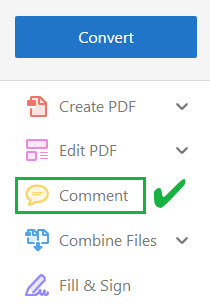 Open the comment tool to write better inline feedback