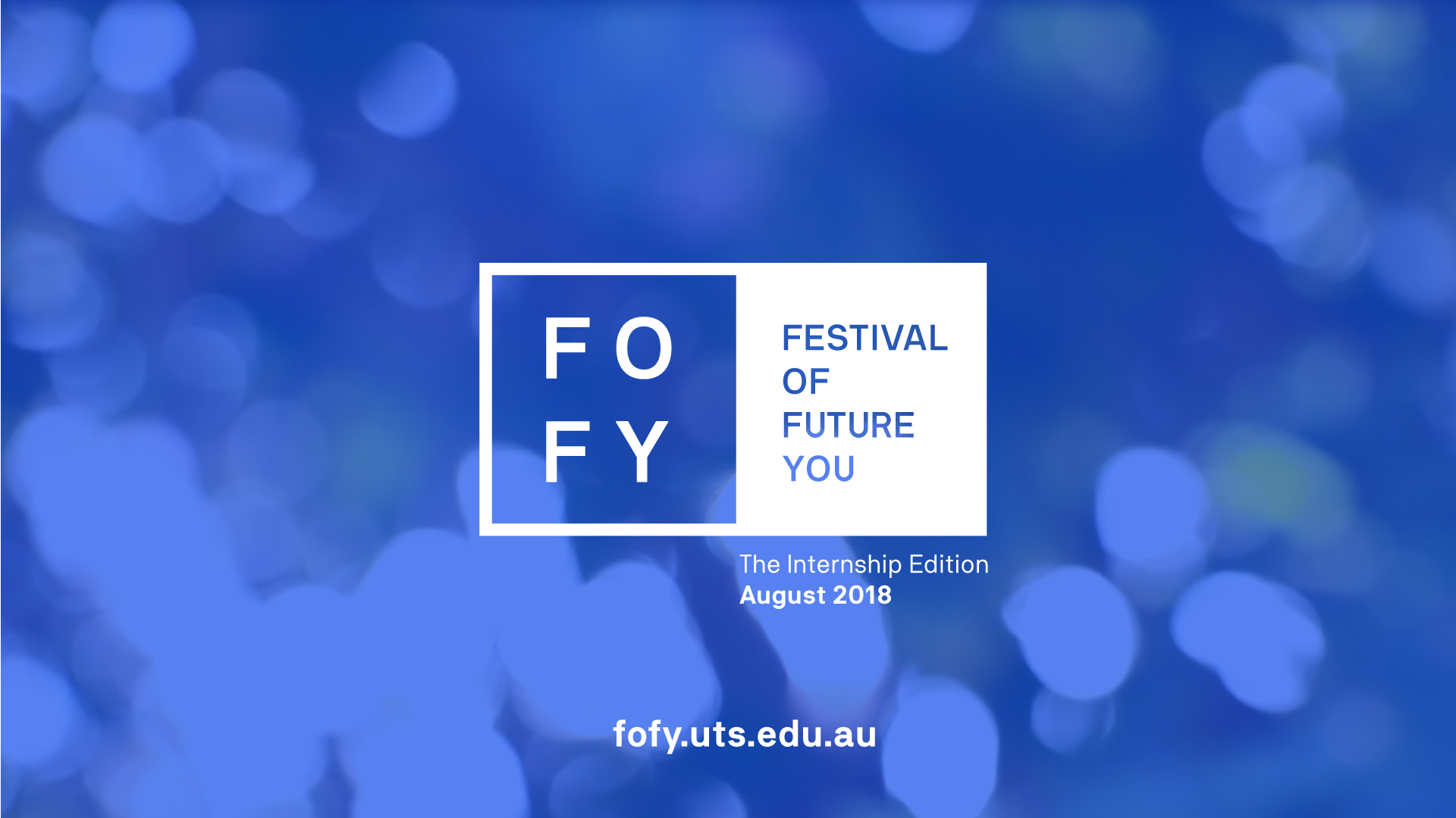 Get involved with the Festival of Future You