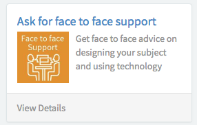 Service Connect tile - ask for face to face support