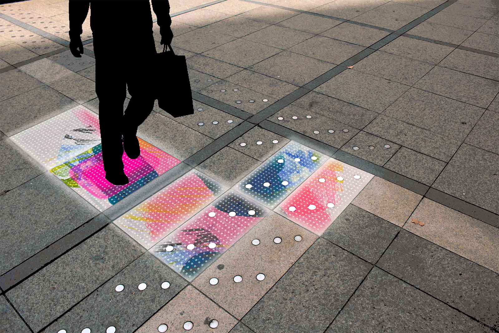 Responsive LED floor by Wendy San