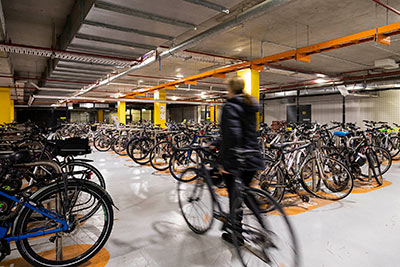Bicycle parking in Building 10