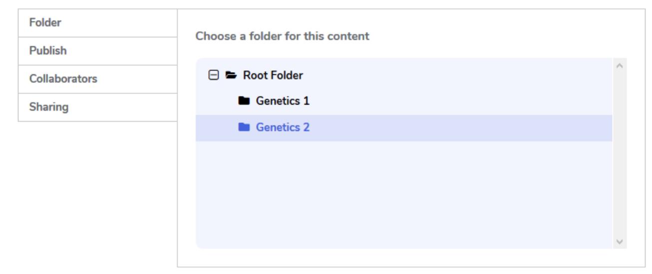 Screenshot of H5P root folders