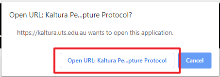Screenshot of Open prompt