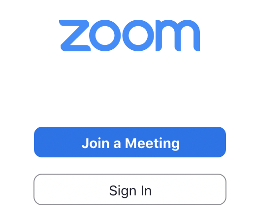 Screenshot of UTS Zoom app with 'Sign in' button