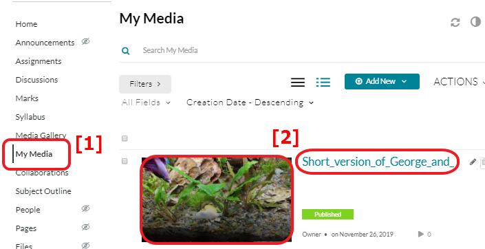 Screenshot of Select Media