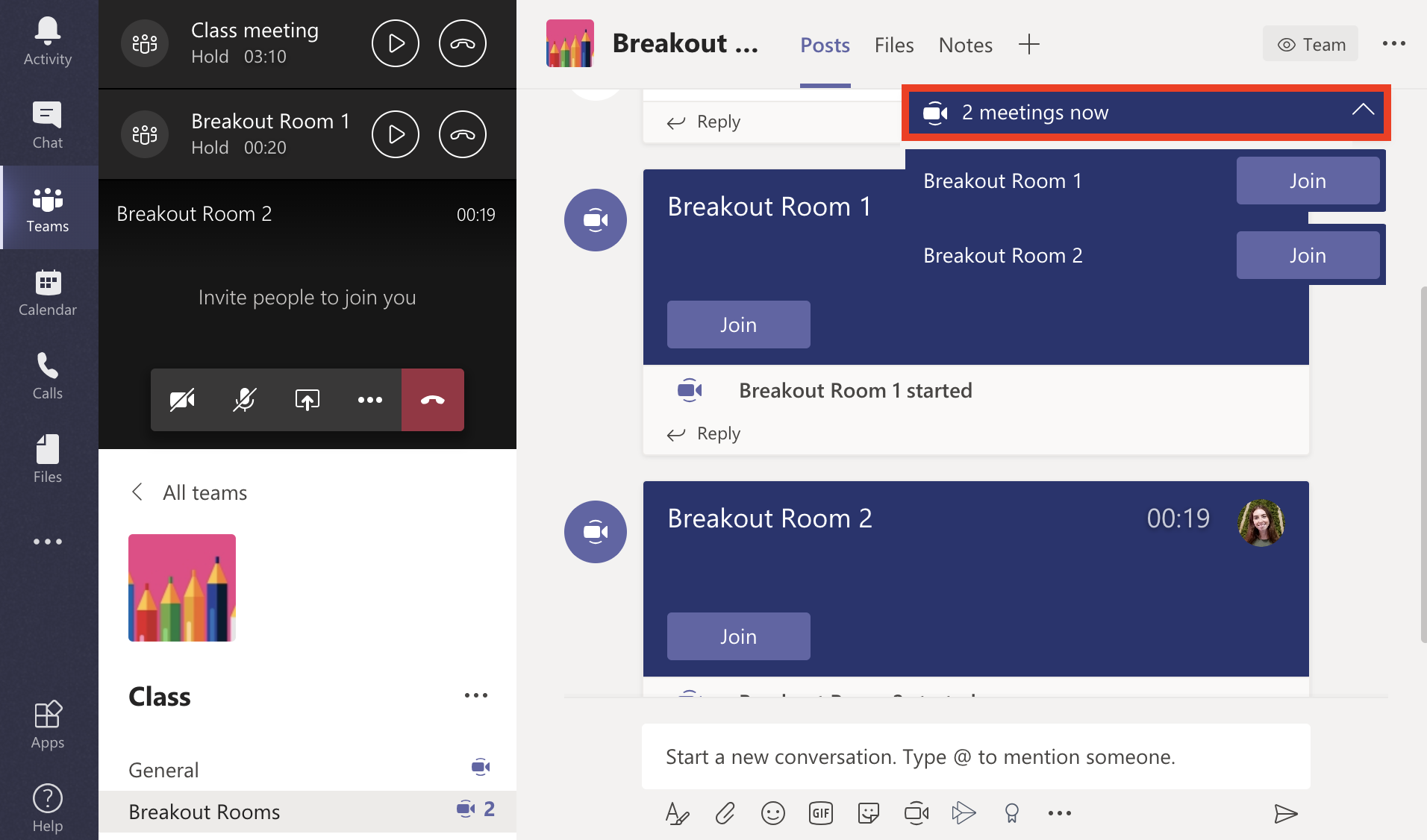 join breakout room screen