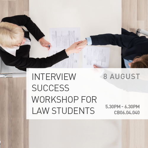Interview Success Workshop for Law Students